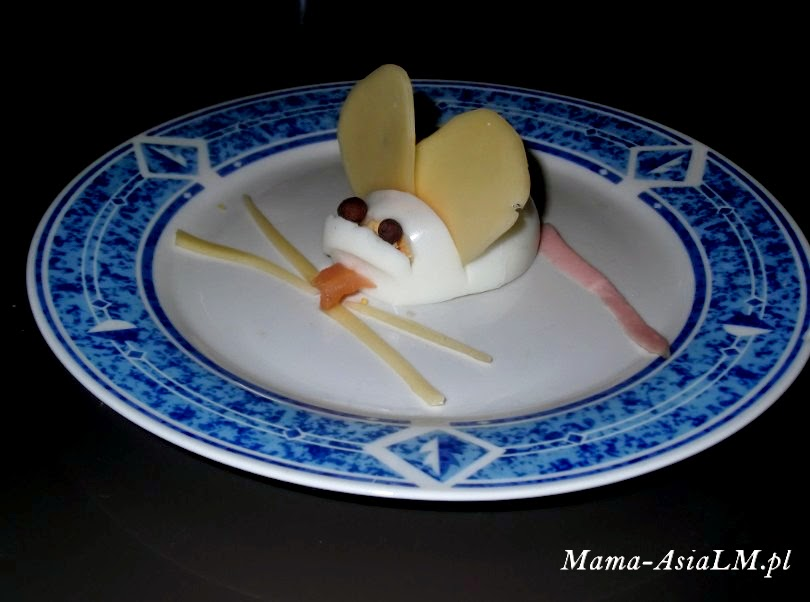 Jajko wielkanocne, czyli pomysł na śniadanie dla dziecka myszka