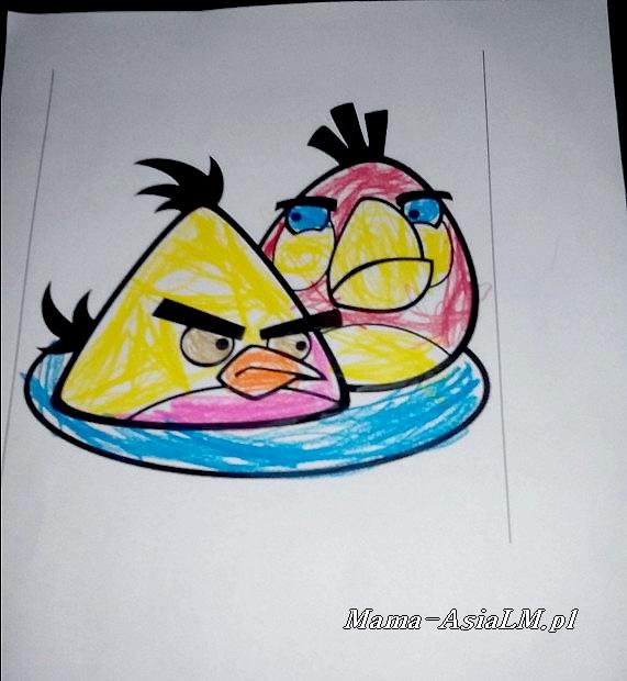 Babyplanet sala zabaw  zjeżdżalnia plac zabaw  malowanka angry birds