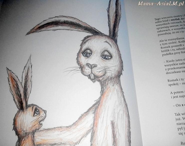 o króliku, który chce zasnąć początek królik i mama