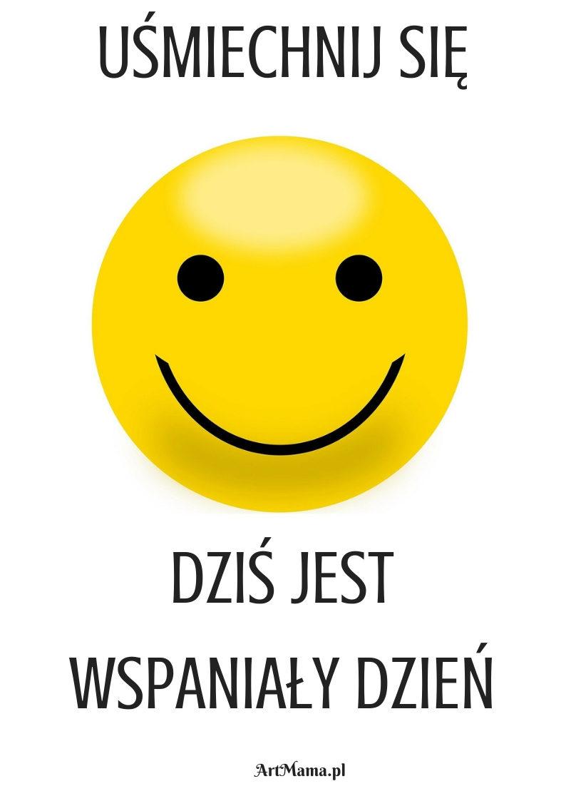 plakat uśmiechnij się artmama.pl